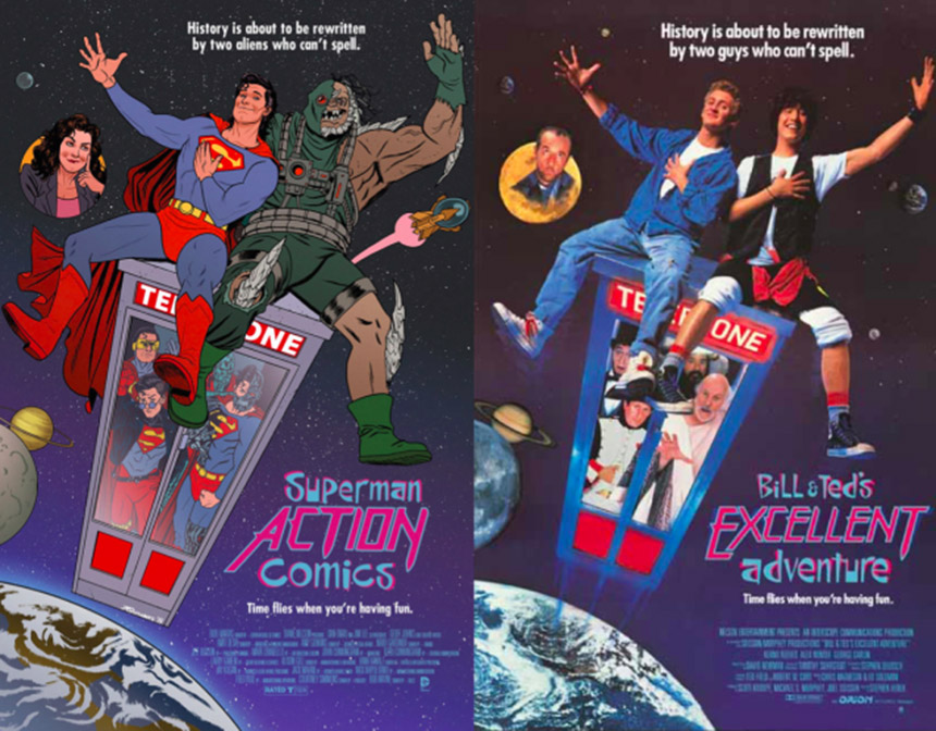 superman - bill and ted excellent adventure