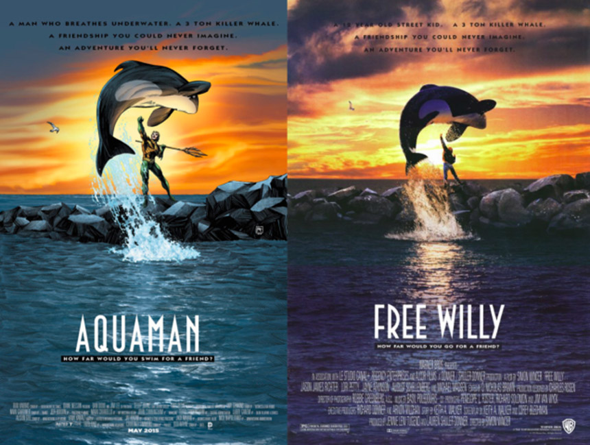 aquaman - free willy cover