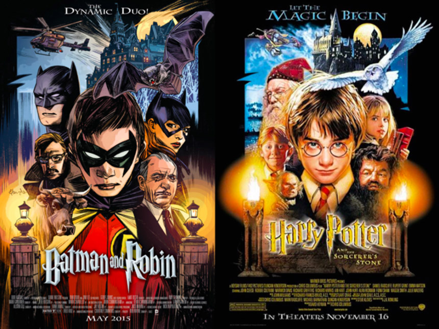batman and robin - harry potter cover
