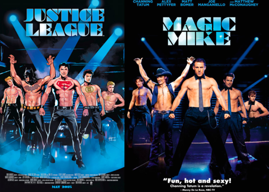 justice league - magic mike cover