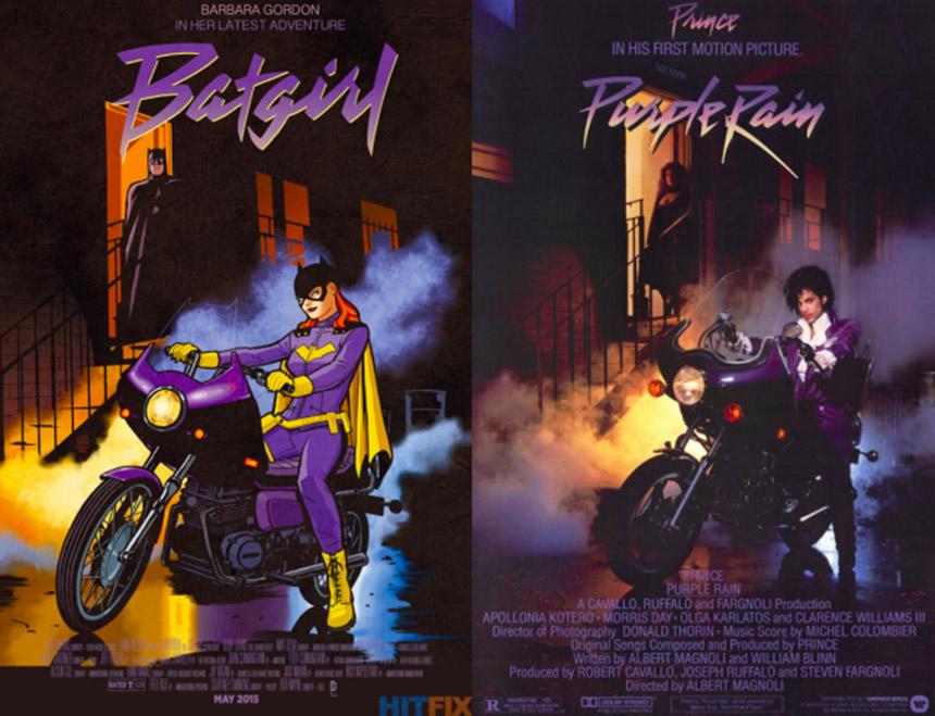 batgirl - purple rain cover