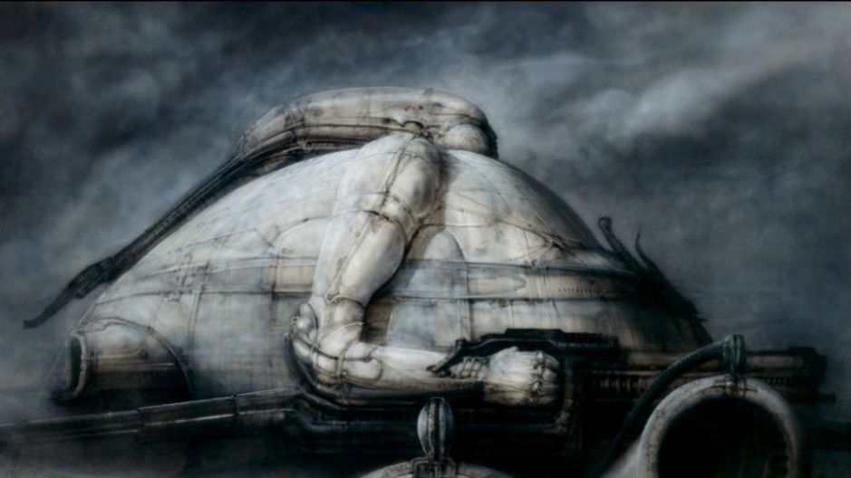 Concepts da fortaleza do vilão, por HR Giger