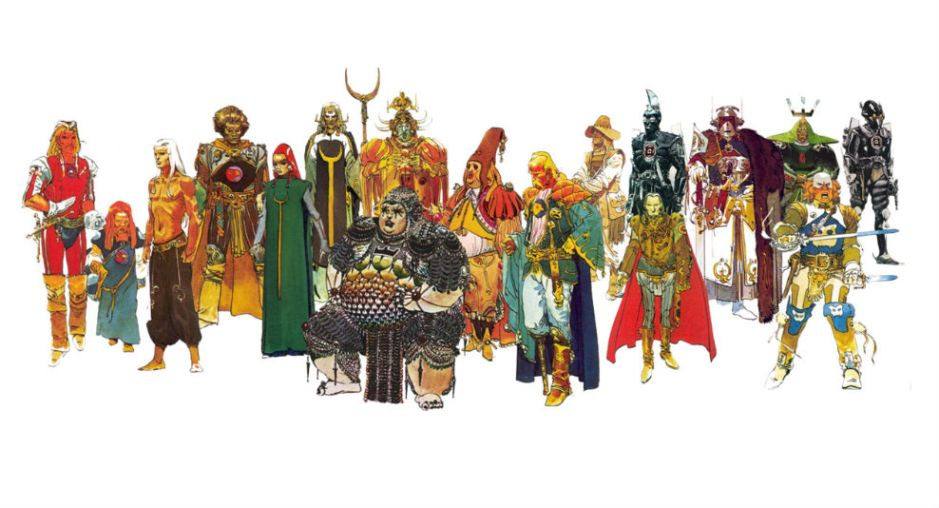 Concepts de figurinos por Moebius